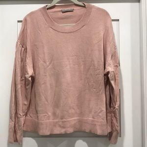 Everlane pale pink cotton long-sleeve Crew XL